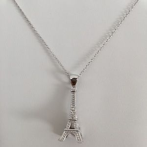 Jewelry - Sterling Silver Necklace Eiffel Tower 925